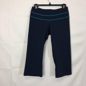 LUCY Workout Blue Cropped Leggings Sz Small